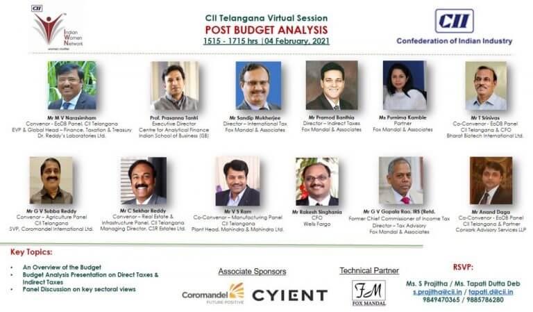 Post Budget Analysis with CII Telangana