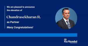 Chandrasekharan Ramanathan Elevated as Partner at Fox Mandal
